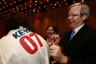 Kevin Rudd won the federal election in 2007.