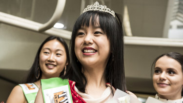 Lucy Fang, 17, was crowned as this year's Miss Eastwood on Saturday ahead of the Granny Smith Festival.