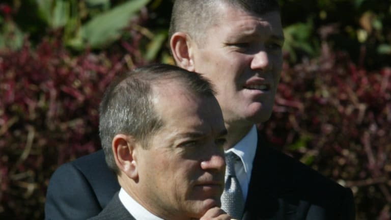 Compromised view: James Packer and Crown's executive chairman, John Alexander.