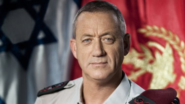 Benny Gantz as the Israeli Defence Forces Chief of the General Staff in 2011.