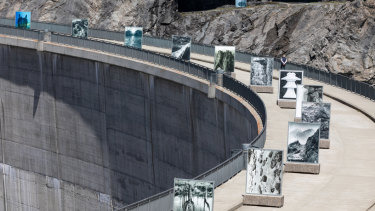 As part of Batia Suter's Hexamiles project, images will appear on the Mauvoisin Dam wall in the Swiss Alps at the same time as they are showing at MUMA.