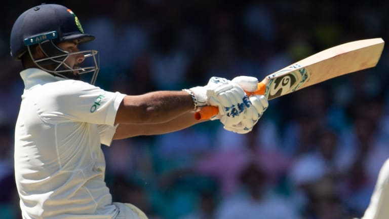 India's Rishabh Pant on his way to an unbeaten 159.