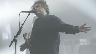 Robert Smith of The Cure performs at the Opera House on Friday.
