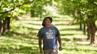 Stanley nut grower David McIntyre is concerned about water mining nearby.