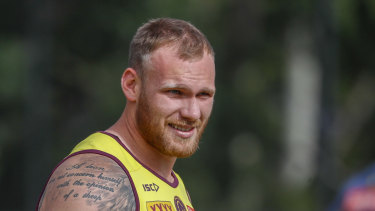 New man: Matt Lodge says he can give back after his recruitment dominated headlines this time last year.