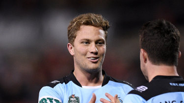 Dynamic duo: Matt Moylan and Chad Townsend have formed a slick combination for Cronulla