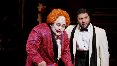 A scene from the current season of Rigoletto.