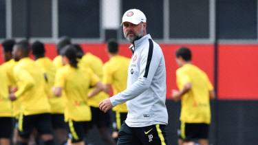 Wanderers assistant coach Jean-Paul de Marigny.