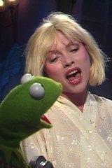 Kermit the Frog and Debbie Harry sing The Rainbow Connection on The Muppet Show.