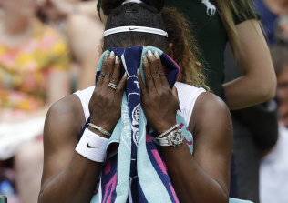 Serena Williams has lost her past four grand slam singles deciders.