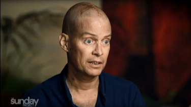 Tom Long pictured in an interview from The Sunday Project earlier this year before he underwent CAR-T Cell therapy clinical trial at the Fred Hutchinson Cancer Research Centre in Seattle.
