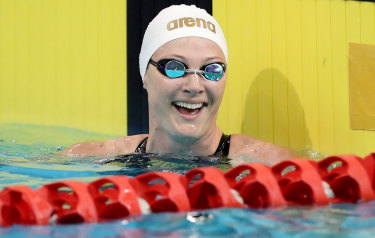 Cate Campbell added the women's 50m freestyle to her medals on Wednesday night.