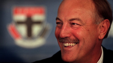 New sensation: Malcolm Blight joins the Saints as coach in 2001.