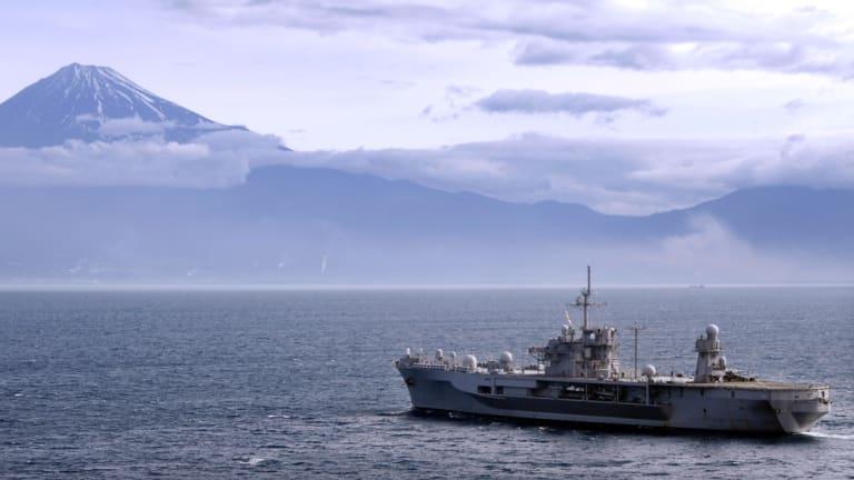 The USS Blue Ridge in Japan.