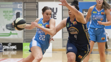 Kelly Wilson was one of Canberra's best in her first game for the club.