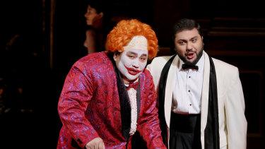 A scene from the current season of Rigoletto.