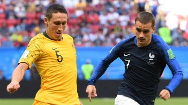 Rude return: Mark Milligan impressed against some big names in Russia but now faces an uncertain future.
