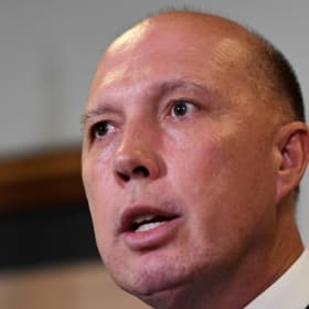 Home Affairs Minister Peter Dutton.