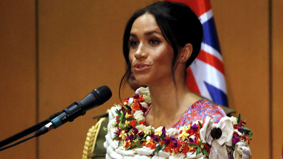 'Worth every effort': Meghan gives her first speech of the royal tour
