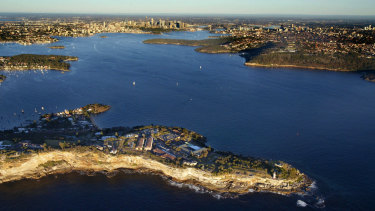 Sydney Harbour, with South Head in the foreground.