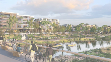 An artist's impression of Canterbury-Bankstown Council's new vision for Campsie.