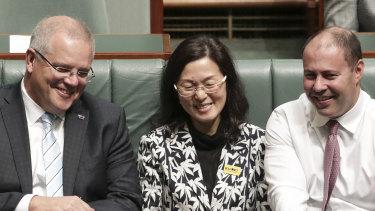 Prime Minister Scott Morrison and Treasurer Josh Frydenberg made a public show of support for Gladys Liu during the most recent parliamentary sitting week.