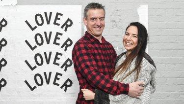 Cross-Yarra lovers Andrew James and Lauren Streifer.