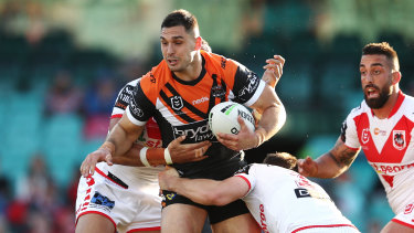 Ryan Matterson could line up against West Tigers in the first round of the coming season if he makes a switch to St George Illawarra.