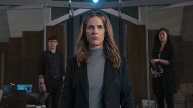 Rachel Griffiths in the young-adult series The Wilds.
