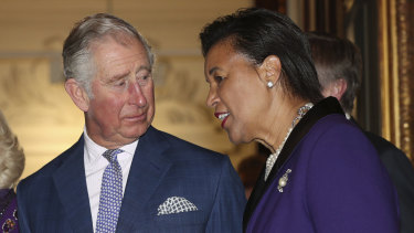 Commonwealth Secretary-General Patricia Scotland with Prince Charles in London last year.