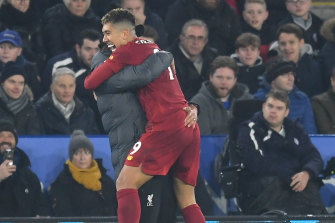 leicester vs liverpool roberto firmino rampages as reds crush leicester 4 0 to go 13 points clear on top of premier league ladder leicester vs liverpool roberto firmino