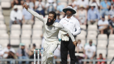 England's Moeen Ali did all the damage for his side.