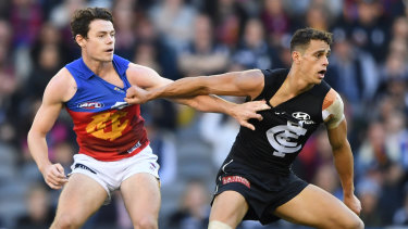 Brownlow contender: The Lions' Lachie Neale.