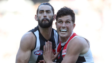 Brodie Grundy and Rowan Marshall.
