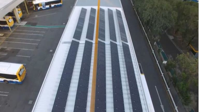 Solar panels have been installed at Brisbane City Council's Toowong bus depot.
