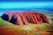satsep21cover TRAVELLER  COVER STORY THE BIG ULURU CLIMBDOWN (Catherine Marshall) supplied by Voyages indigenous tourism pic supplied by journalist please check for reuse