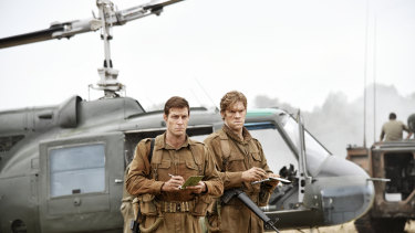 Sgt Bob Buick (Luke Bracey) and Warrant Officer Jack Kirby (Alexander England) in Danger Close: The Battle of Long Tan.