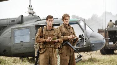 Sgt Bob Buick (Luke Bracey) and Warrant Officer Jack Kirby (Alexander England) in <i>Danger Close: The Battle of Long Tan</i>.