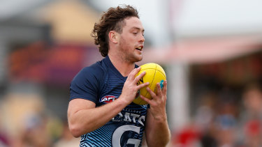 Jack Steven in action for the Cats during a pre-season match earlier this year.