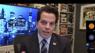 Anthony Scaramucci talks to London-based consultancy Portland via video link ahead of the US 2020 election which he predicts and hopes Donald Trump will lose.