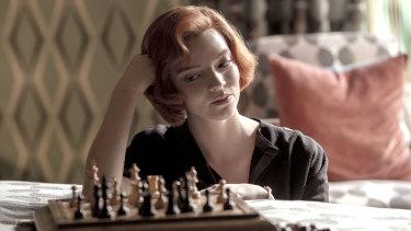Anya Taylor-Joy plays orphaned chess prodigy Beth Harmon in Netflix drama <i>The Queen's Gambit<i>.