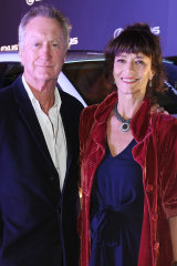 Bryan Brown and Rachel Ward arrive for the opening nght screening of Palm Beach at  the Sydney Film Festival in June.