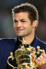 Richie McCaw at the World Cup in Japan last year.