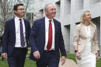 Barnaby Joyce is once again leader of the Nationals.