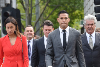 Israel Folau and Rugby Australia have settled out of court and wished each other well.