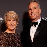 Julie Bishop and David Panton at last week's Moet function at Sydney Town Hall.