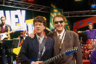 Symons with Wilbur Wilde in 2010.