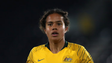 Bolter: Mary Fowler has been picked in Australia's World Cup squad..