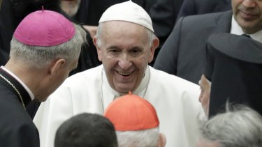 Pope Francis, pictured at the Vatican at the weekend, has said the Catholic Church can never condone abortion.