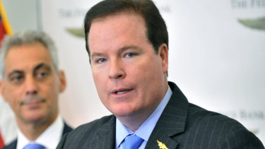 Stephen Calk, pictured in 2012, is charged with bribing a Trump campaign official while he was  chairman and chief executive of the  Federal Savings Bank.